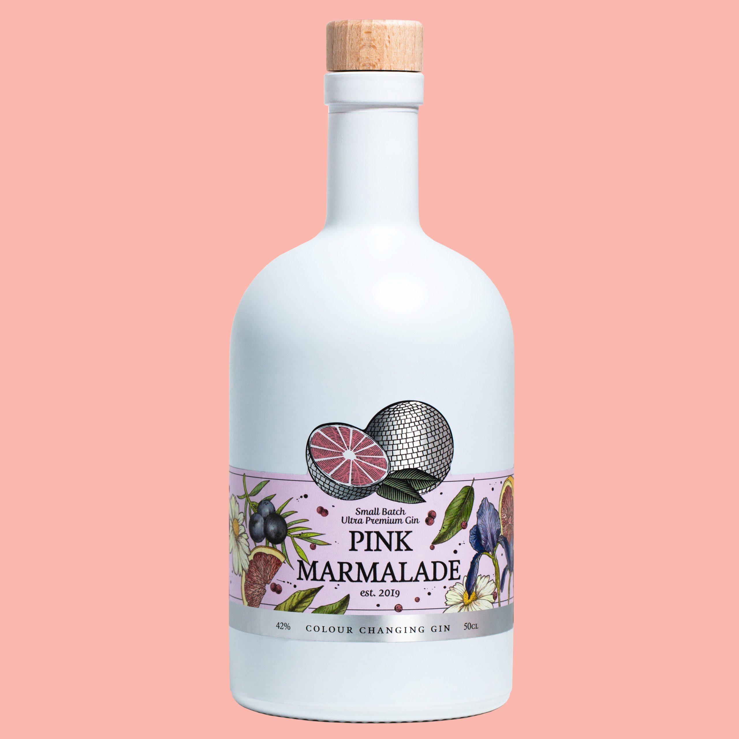 pink marmalade gin bottle