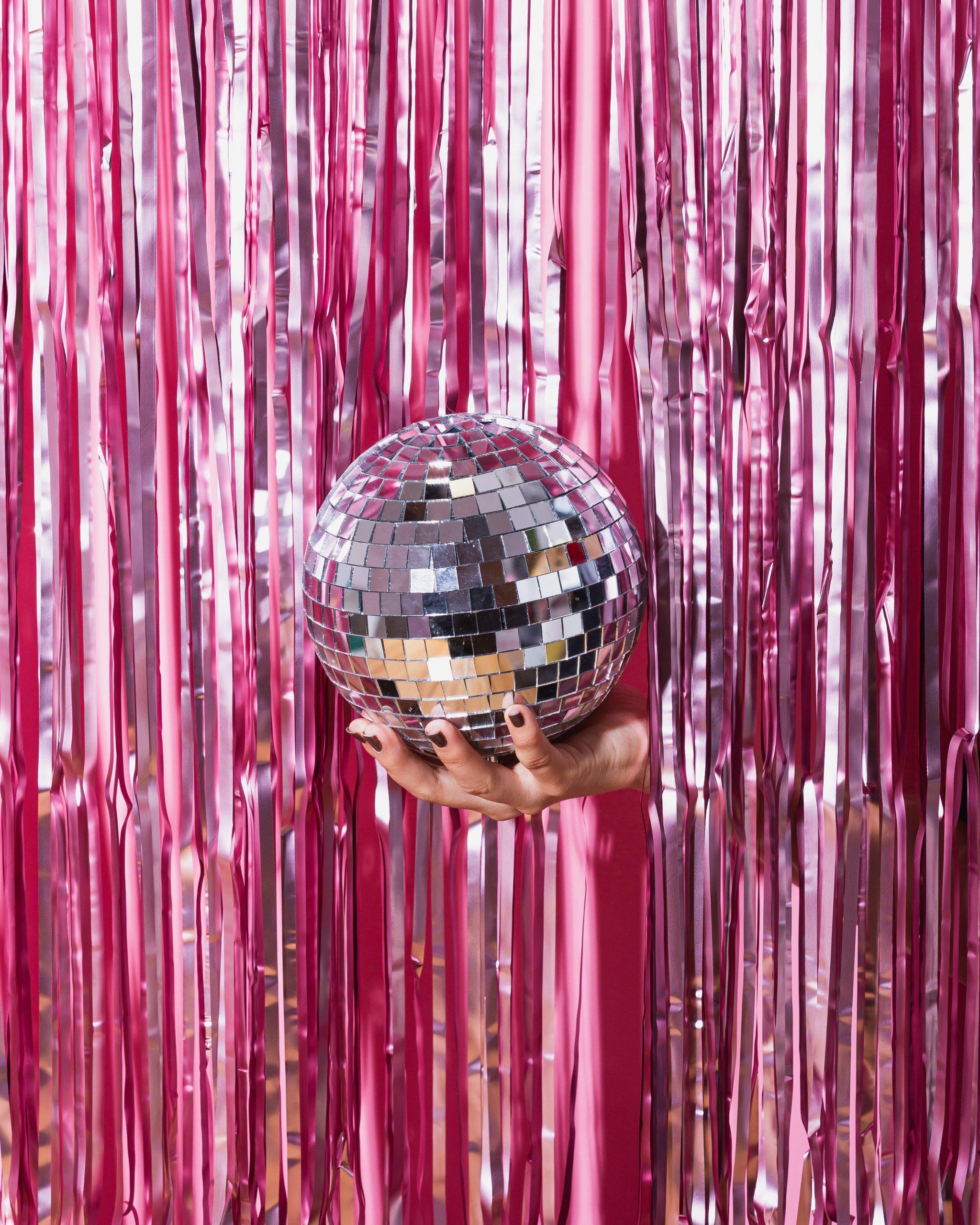 disco ball on a shiny background